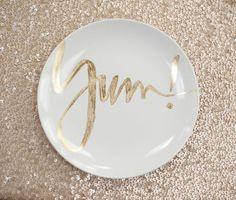 Custom name dessert plates