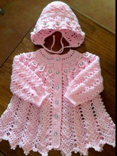 Crochet Pattern for Baby Dress --- Apple Blossom Baby Girl Dress Crochet Baby Sweaters, Crochet Vest Pattern, Crochet Baby Cardigan, Baby Girl Sweaters, Crochet Coat, Baby Girl Crochet, Crochet Baby Clothes, Baby Knitting Patterns, Baby Patterns