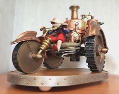 bande dessinnée hauteville house maquette moto à vapeur