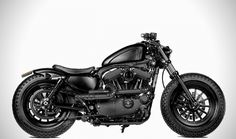 Two guys, Wiston Yeh and Steve Willis, customized an Harley-Davidson XL1200X. In the end, the bike looked like that :D they named their creation the Forty-Eight, now there are a lot of bikes like this.