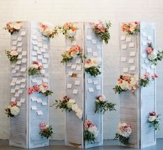 Old shutters and chandeliers created the perfect, vintage escort card display for this Chicago wedding! : I Design: Space Wedding, Wedding Table, Diy Wedding, Wedding Flowers, Wedding Ideas, Wedding Reception, Patio Wedding, Wedding Wishes, Wedding Things