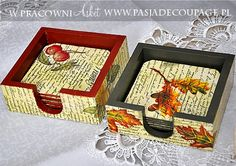 portavasos en servilletas Decoupage Glass, Decoupage Furniture, Decoupage Art, Decoupage Vintage, Painting On Wood, Ceramic Painting, Painted Boxes, Hand Painted, Mirrored Picture Frames