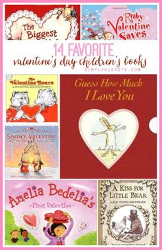 This is fabulous list of 14 really fun Valentine's Day children's books! Perfect for a countdown--read one a day from Feb. 1st-14th!