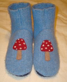 slipper socks from old sweater