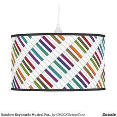 Rainbow Keyboards Musical Pattern Hanging Lamp