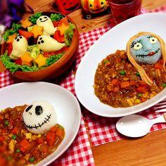 ハロウィンごはん★ナイトメアカレー | みっぴーさんのお料理