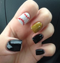 My Pittsburgh Pirates baseball nails !