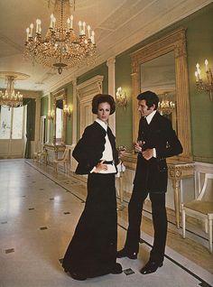 Models wearing creations of Italian fashion designer Valentino for Autumn/Winter 1969.
