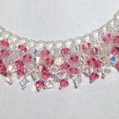 Wow! (Crystal AB/Rose AB) Necklace - (Partial), Swarovski