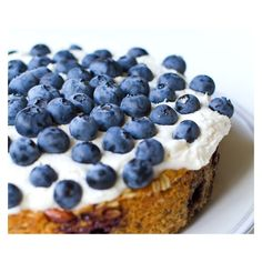 Frosted Blueberry Cake. Vegan slice of spring. ❤ liked on Polyvore featuring food, backgrounds, photos, blue and pics