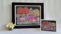 Pretty Potted Flowers  Original Chalk Art Drawing  Prints