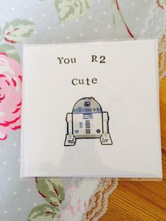 Excited to share the latest addition to my #etsy shop: Star wars card - Valentines day, birthday, anniversary - you R2 cute - R2D2 #valentine #valentinesday #anniversary #r2d2 #starwars