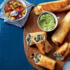 Recipes from the September Issue of Southern Living:  Chicken-and-Black Bean Chimichangas