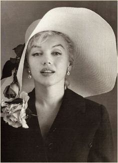 MM - photographed by Carl Perutz 1958 for an Easter Hat feature to be painted by Jon Whitcomb.