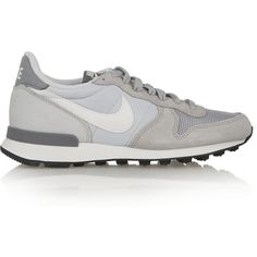 Nike Internationalist suede, leather and mesh sneakers, Women's, Size:... (€92) ❤ liked on Polyvore featuring shoes, grey, flexible shoes, leather athletic shoes, leather shoes, nike footwear and grey shoes