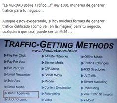 ¿Cuantas maneras de generar trafico hay?