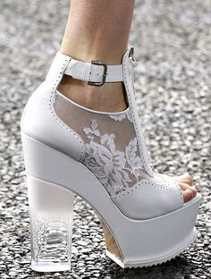 Shoes at Erdem, Spring 2014.