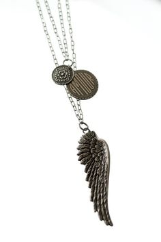Pam Kerr Designs jewellery... Winged Amour Angel Wing Charm Necklace (WA6)