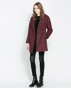 Image 1 of OVERSIZE DOUBLE BREASTED COAT from Zara