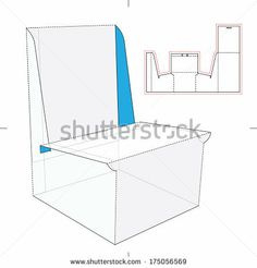 Display Stand with Blueprint Layout - stock vector