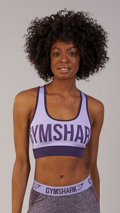 Workout wear essentials. Complete with bold Gymshark lettering to the one side, and sharkhead logo to the reverse, the Gymshark Reversible Sports Bra offers the ultimate versatility. Coming soon in Rich Purple and Soft Lilac.