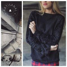 IN-STORE: Sweater Espiga con Mangas Piel de Mono - SWBELL76