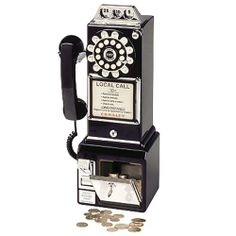 This is what pay phones used to look like!  And they only cost a dime to make a call!
