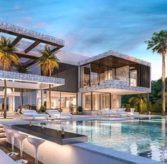 Homes for Sale, Listings & Real Estate in Greater Denver from The DeGrood Team. Dream House Exterior, Dream House Plans, Modern Villa Design, Contemporary Design, Modern Mansion, Luxury Homes Dream Houses, Modern Architecture House, California Architecture, Modern Houses