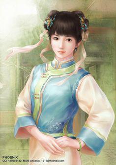maid in Qing Dynasty by phoenixlu.deviantart.com on @deviantART