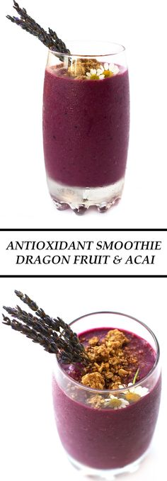 Antioxidant-smoothie-dragon-fruit-acai #BeGreatOutThere #IC #ad. Start your day with a breakfast power smoothie, high in antioxidant, great for skin and body