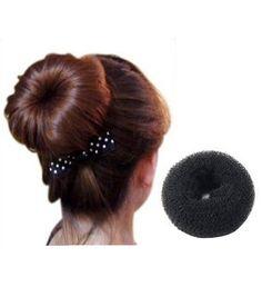 Sodial Black Donut Shape Bun Hair Former