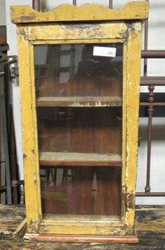 Small Vintage Wall Cabinet  FIND This Item In Store