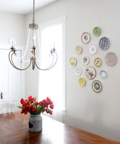 How to Design & Hang a Plate Wall Display Wall, Plate Display, Wall Decor, Plates On Wall, Dining Room Small, Plate Wall Display, Home Decor, Dining Room Windows, Plates