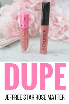 Dupe Jeffree Star Velour Liquid Lipstick in Rose Matter Vs. Rimmel Stay Matte in Pink Bliss - September 21 2019 at Velour Liquid Lipstick, Lipstick Art, Lipstick Dupes, Best Lipsticks, Lipstick Colors, Grey Lipstick, Cheap Lipstick, Eyeshadow Dupes, Lipstick Shades