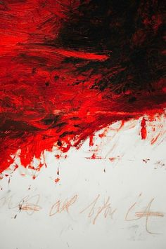 Red | Rosso | Rouge | Rojo | Rød | 赤 | Vermelho | Color | Colour | Texture | Form | Pattern | cy twombly #abstractart