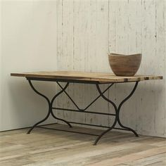 Reclaimed Wood & Iron Table