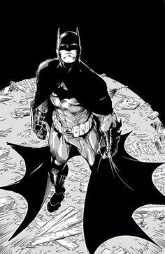 Batman by Brett Booth inked
