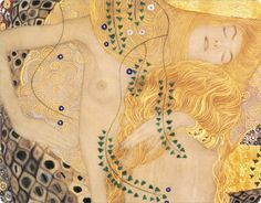 tamburina:  Gustav Klimt, Water Serpents (detail)