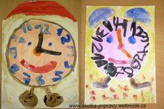 co děláme celý den ve školce, časové pojmy a orientace v čase