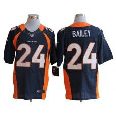 Nike Champ Bailey Jersey Elite Team Color Blue Denver Broncos #24