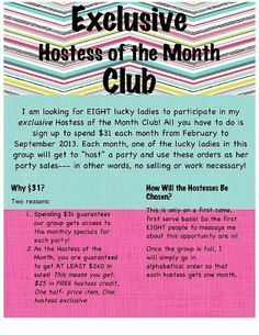 Hostess of the Month Club.