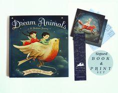 Dream Animals Signed Book & Print Set van theblackapple op Etsy, $38.00
