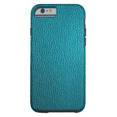 Blue-Green Tones Natural Leather Look iPhone 6 Case