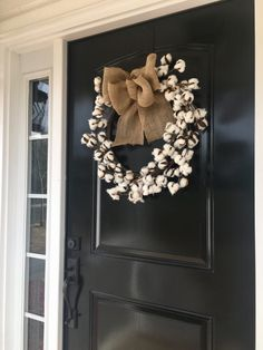 Shop our selection of gorgeous designer cotton wreaths! Cotton Wreath, Burlap Wreath, Diy Home, Home Decor, Year Round Wreath, Floral Arrangements, Wreaths, Fall, Design