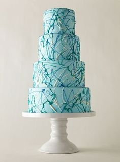 splatter paint looking cake