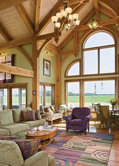 The Melody Lane Timber Frame Home - Great Room 2 | Flickr - Photo Sharing!
