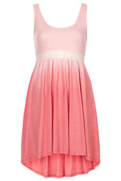 Dip Dye Mesh Panel Dress #topshop