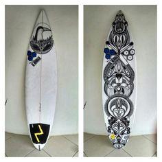 [ Tabla para Edwin] #posca #surfboard #custom #design
