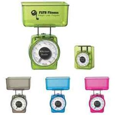 2 Piece kitchen scale measures ounces, pounds, and milliliters. Scale tucks into tray for easy storage. Great for wellness and dieting programs. Meets FDA requirements.