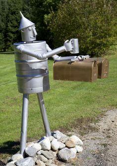 The tin man mailbox